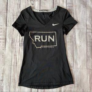 Nike Pro Dri-Fit Gray Short Sleeve Running Top